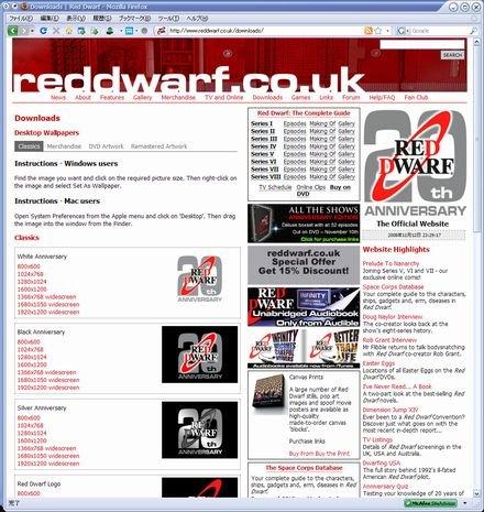 RED DWARF公式ページ